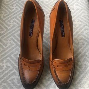 👠Ralph Lauren Purple Label Stiletto Loafers 8.5👠